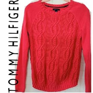 TOMMY HILFIGER HOT PINK SWEATER 100% COTTON